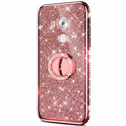 Case For Huawei Mate 8 Glitter Case Sparkly Glitter Bling Diamond Rhinestone Bumper With Ring Kickstand Flexible Soft Rubber Tpu Protective Case Cover For