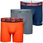 """New Balance Men's 6"""" Boxer Brief Fly Front With Pouch 3-PACK Pigment dynamite steel Large 36""""-38"""""""
