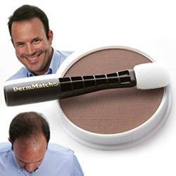 Dermmatch Waterproof Hair Loss Concealer. Naturally Thicker Than Hair Fibers & Spray Concealers. Medium Brown