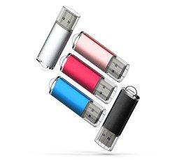 16GB, Green DZMWEK 5 PCS USB 2.0 Flash Drive Memory Stick Thumb Drives 5 Colors: Black White Blue Orange Yellow