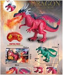 """USA Nutcracker Factory 18.25"""" Remote Control Red Dragon With Light And Sound - Battery Operated"""