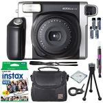 Fujifilm Instax Wide 300 Instant Film Camera + Instax Wide Instant Film 20 Exposures + Extra Accessories