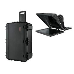 "Ikan Professional 17"" High Bright Beam Splitter 70 30 Glass Teleprompter Kit 3G-SDI With Travel Case PT4700-SDI-TK"