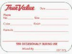 Centurion Pcl-tv True Value Manual Paint Can Label Roll 1000-CT. Pack Of 10
