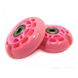 AOWISH Flash Inline Roller Skate Replacement Wheels Light Up 70MM Pair With ABEC 7 Bearings For Skates Rollerblade Ripsti