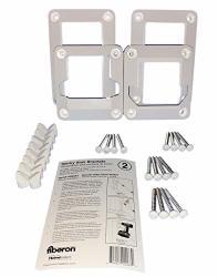 Fiberon 2-PAIR White Sentry Stair Brackets For Homeselect Composite Railing