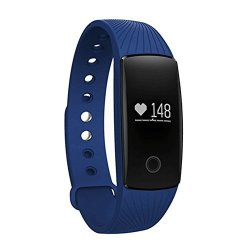Fitness Tracker Bluetooth 4.0 Waterproof Heart Rate Monitor With 0.49OLED Touch Panel Pedometer Auto Sleep Tracking Best Smart Bracelet For Iphone X 8 7 6 Ipad
