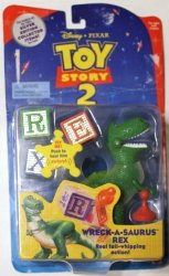 Toy Story 2 Wreck-a-saurus Rex Toy Figure Silver Edition