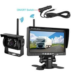 """DohonesBest Wireless Built in Backup Camera and 7/"""" Monitor kit Rear View Camera"""