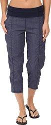 LUCY Women's Get Going Capri Navy Heather Pants XS X 22.5