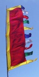 Radiant Heart 6 Foot Tall Vertical Prayer Flags -wish Fulfilling Prayers From Studios
