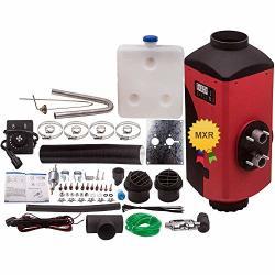 MaXpeedingrods 5KW 12V Diesel Fuel Air Heater Knob Switch + Diesel Tank + Silencer For Car Bus Trucks Motor-homes Boats