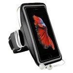 MAGGIE Premium Running Armband With Key Slot For Blackberry Z3 Z30 Huawei P8 Lite Google Nexus 5 Oneplus X Black