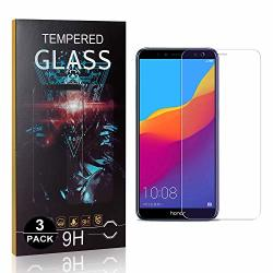 Unextati 3 Pack Huawei Y6 2018 Huawei Honor 7A Screen Protector 9H Ultra Clear Tempered Glass For Y6 2018 Honor 7A Anti-scratch Anti-fingerprint