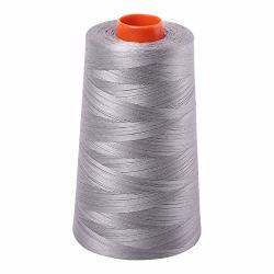 Aurifil 2620 50 Wt 100% Cotton Thread 6542 Yard Cone - Stainless Steel