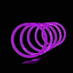 Lumistick 10 Inch Glow Stick Bracelets Non-toxic & Kids Safe Light Up Neon Handwear Party Pack Bendable Light Sticks With Connectors |