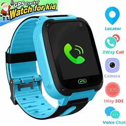 Jsbaby Kids Smartwatch Phone For Children With Lbs gpstracker Sim Card Anti-lost Sos Call Boys And Girls Birthday Compatible Android Ios Touch Screen Voice Chat