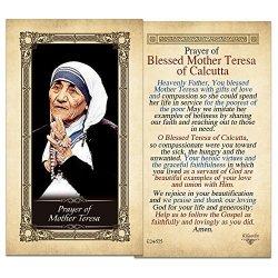 ShopCatholic Mother Teresa Laminated Holy Card - Pack Of 25