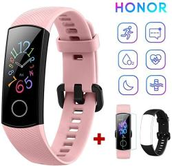 USA Honor Band 5 Fitness Tracker Heart Rate Monitor Amoled 0.95 Inch Smart Watch 5ATM Waterproof Bluetooth 4.2 Pink