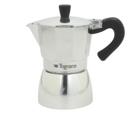 Tognana - Stove Top Coffee Maker 6 Cups - Mirror
