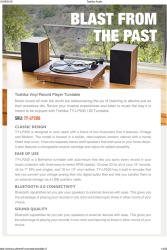 Toshiba Turntable With Convertor