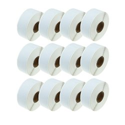 "Source 12 Rolls Compatible Dymo Lw 30252 White Address Labels 28 X 89 Mm 1-1 8"" X 3-1 2"" 350 Per Roll For Labelwriter 400 450 Duo Twin Turbo Mailing Printer"