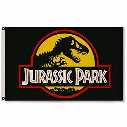 Astany Jurassic Park Yellow Movie Dinosaur 3X5FT Banner Flag