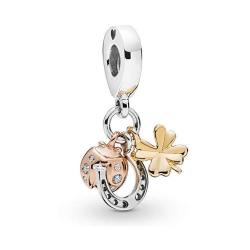 Sunwide Ladybug Clover And Horseshoe Charms Fit Pandora Charms Bracelets