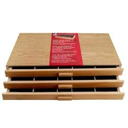 3 Drawer Wood Pastel Storage Box 15-3 4 X 9-1 2 X 3-1 2 Inches