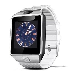 SHENZHEN MODEX TECHNOLOGY CO., LTD Hongyu 2017 Latest Bluetooth Smart Watch DZ09 1.56 Inch Touch Screen Camera Sim Card Wearable Sport Wristwatch For Iphone samsung Sync Android+ Ios Smart Phones White