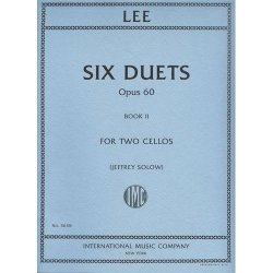 International Music Company Lee Sebastian Six Duets Op. 60 Book 2 Two Cellos Edited By Jeffrey Solow - International Music