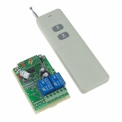 Dc 24V Intelligent Learning 2 Channel Relay Wireless Switch White Long Transmitter + Receiver Garage Door Opener
