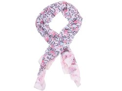 Thats A Wrap That's A Wrap Pink Scarf With Owl Pattern