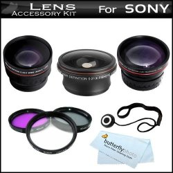 Digital Nc New 0.45x High Grade Wide Angle Conversion Lens for Sony HDR-CX160//B 37mm