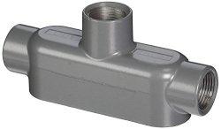 "Killark Otb- 2 Tb Type Conduit Body Aluminium 3 4"" Hub 2 5 16"" Width 1 9 16"" Height 6 1 16"" Overall Length 7 Cubic Inch Volume"