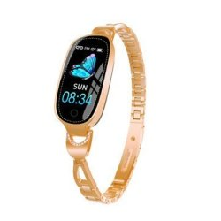 Bakeey F18 Fashion Crystal Full Steel Female Physiological Reminder Call Message D