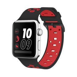 Killerdeals 42MM Silicone Strap For Apple Watch - Black & Red