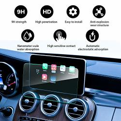 Yee Pin 2014-2019 Mercedes Benz Gla-class X 156 Cla-class W 117 Comand Online Ntg 5 8INCH Tempered Glass Reduce The Fingerprint Anti-explosion Automatic Adsorption Waterproof Coating Glass