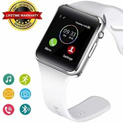 Bluetooth Smart Watch Fitness Tracker Touch Screen Smart Wrist Smartwatch Support Sim Sd Card Slot Make answer Phone Camera Pedometer Compatible Android Ios Samsung LG