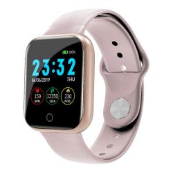 I5 1.3 Inch Smart Bracelet Support Heart Rate & Blood Pressure Monitoring Sedentary Reminder Sleep Monitoring Call Reminder Pink