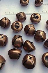 """Spk Jewelry 12 Antique Copper Jingle Bells 25MM 1"""" Metal Craft Primitive Steampunk For Wreath Accents Creating Bell Garlands Door Hangers Belts Diy Craft"""