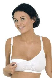 Carriwell Seamless Nursing Bra - White - S