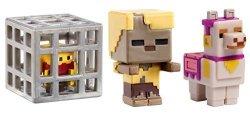 Mattel Minecraft MINI Husk Llama Spawning Blaze Figure 3 Pack