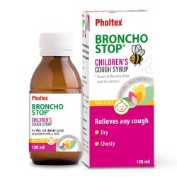 Pholtex Bronchostop Childrens Cough Syrup 120ML