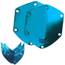 V-moda Crossfade Over-ear Headphone Metal Shield Kit - Ocean Blue