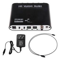 Flameer 5.1 Channel HD Rush Digital Surround Sound Decoder Converter
