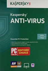Kaspersky Anti-virus 2015 3 Pcs