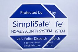 SimpliSafe 2X Yard Sign For Home Security System