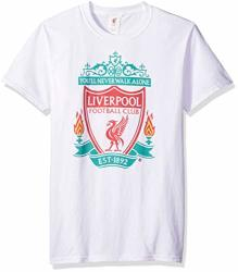 Fifth Sun Official Liverpool Fc Full Color Logo Men's Tee White as Solid Small