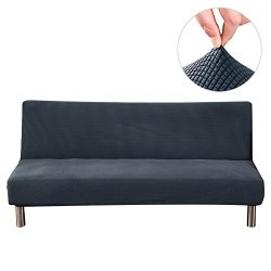 Slipcovers Younar Solid Color Armless Futon Cover Sofa Bed ...